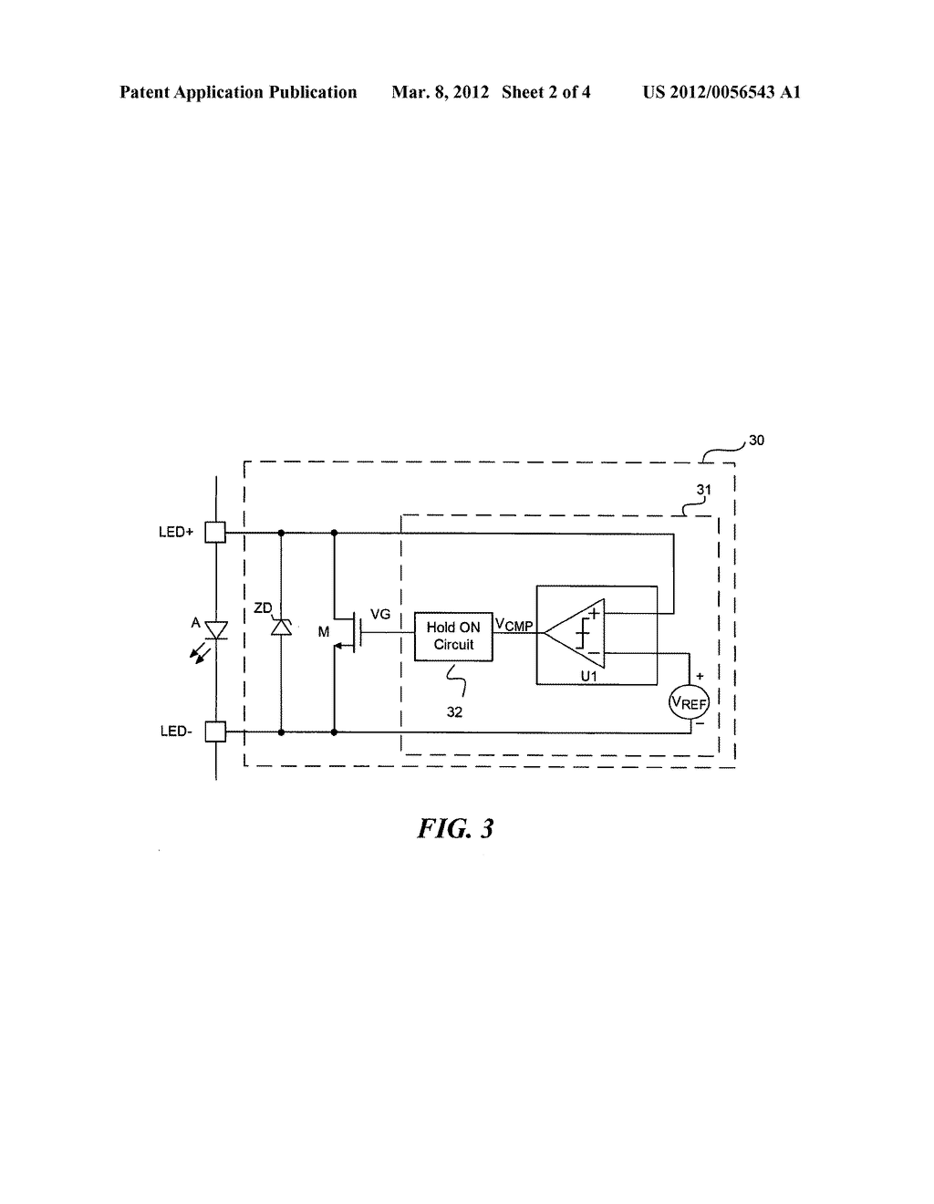 BYPASS CIRCUITRY FOR SERIALLY COUPLED LIGHT EMITTING DIODES AND ASSOCIATED     METHODS OF OPERATION - diagram, schematic, and image 03