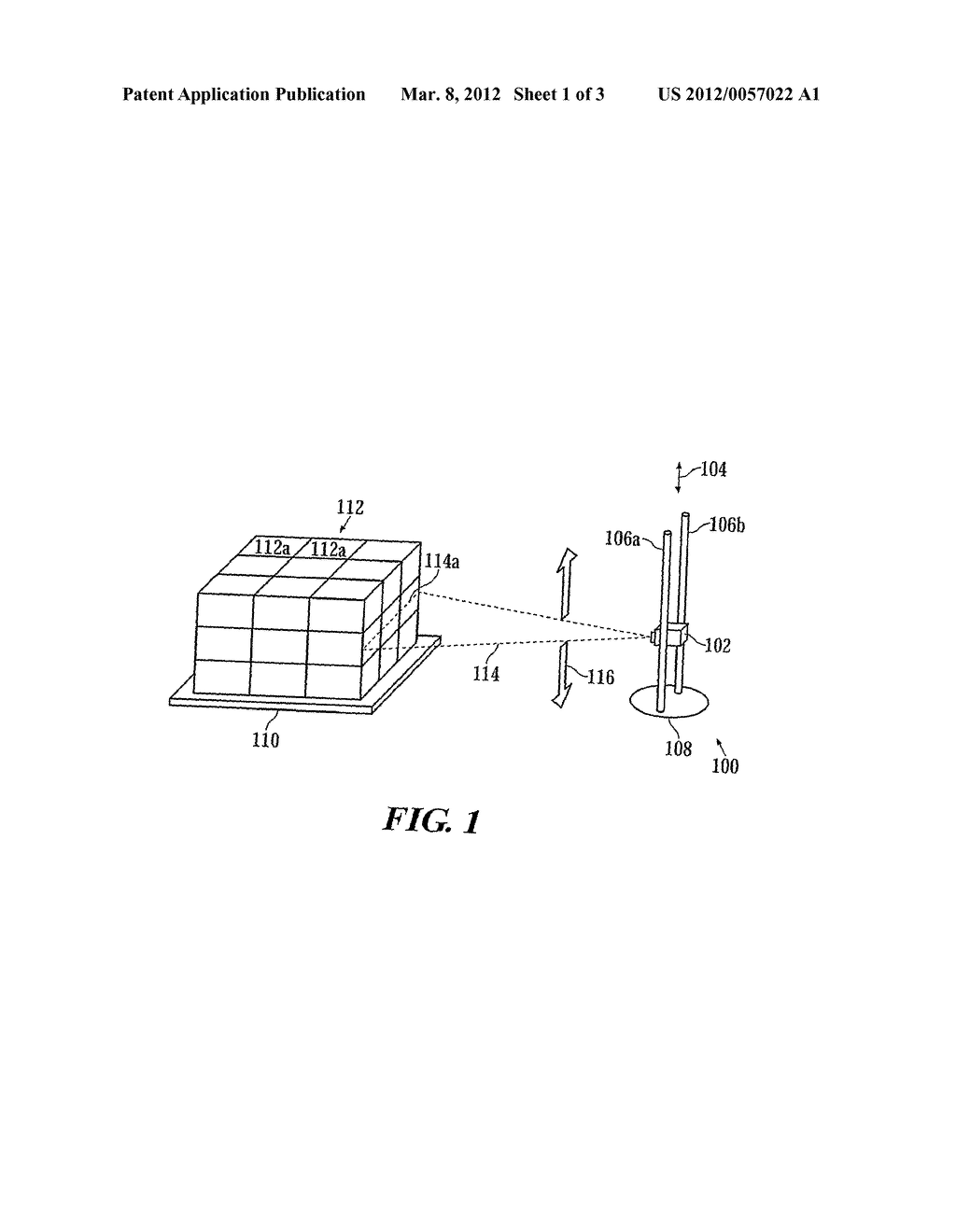 APPARATUS AND METHOD FOR ACQUIRING AN IMAGE OF A PALLET LOAD - diagram, schematic, and image 02