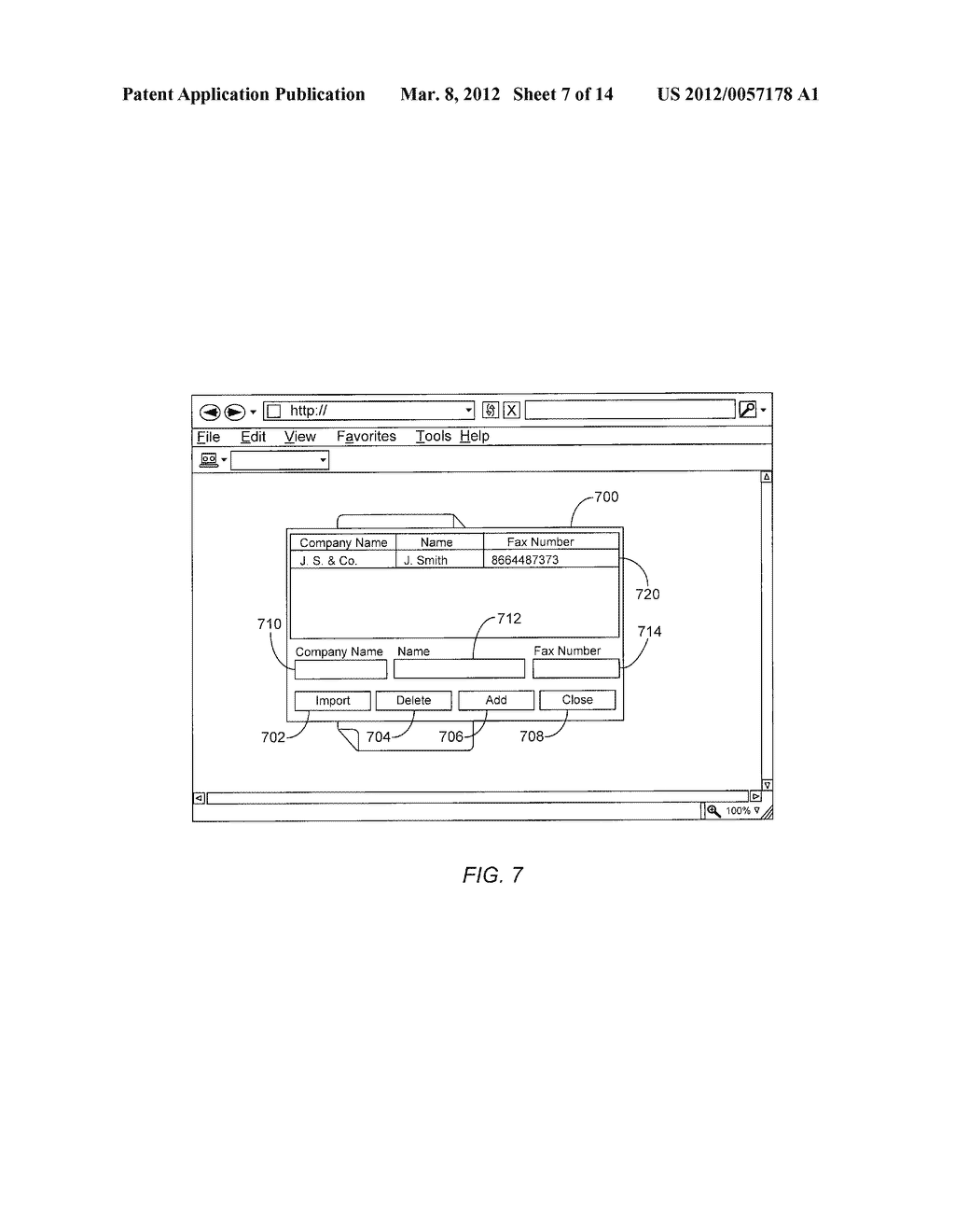 system, method, and apparatus for an interactive virtual fax machine -  diagram, schematic, and image 08