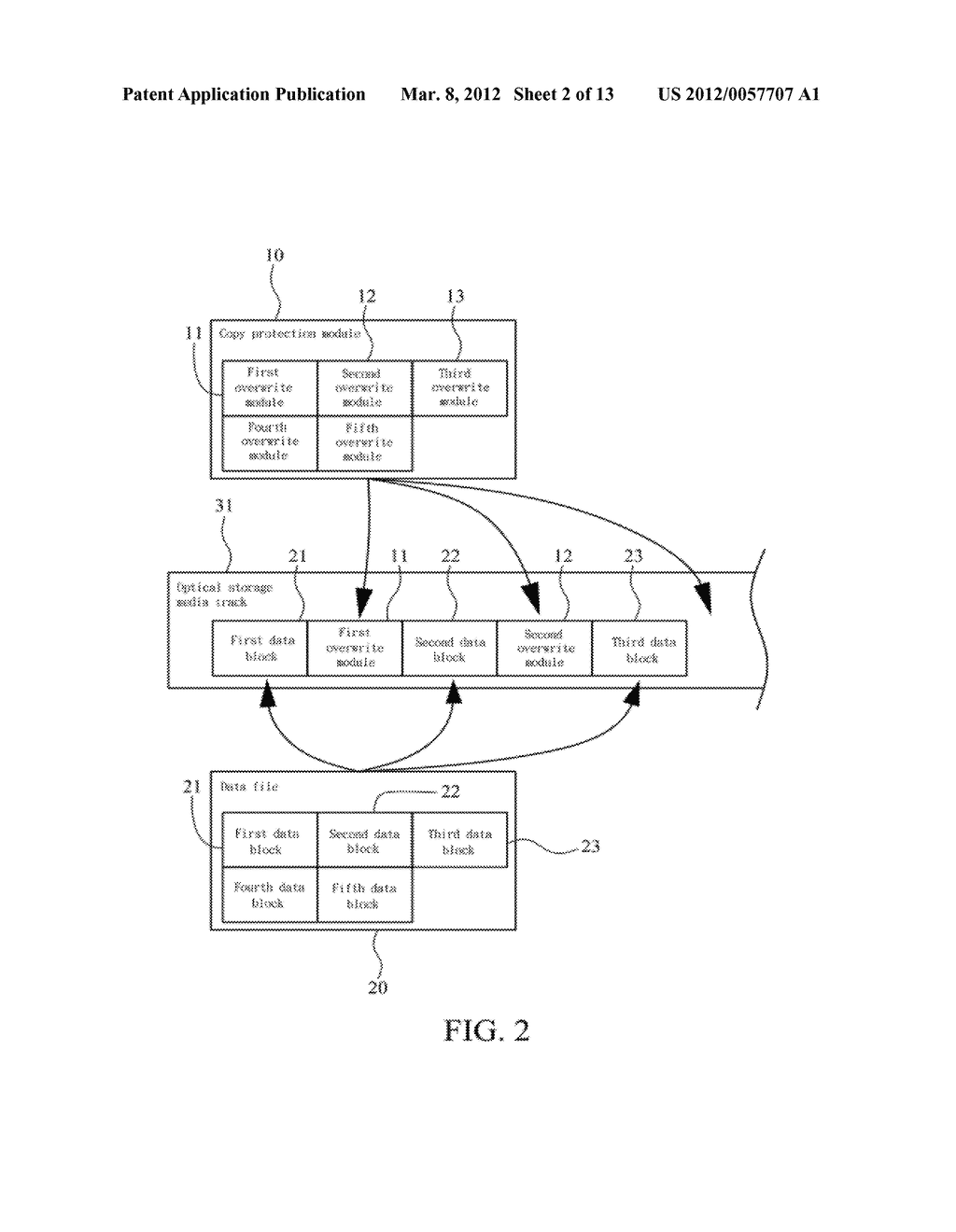 METHOD OF ABOLISHING UNAUTHORIZED COPYING OF DIGITAL DATA STORED ON AN     OPTICAL DISC - diagram, schematic, and image 03