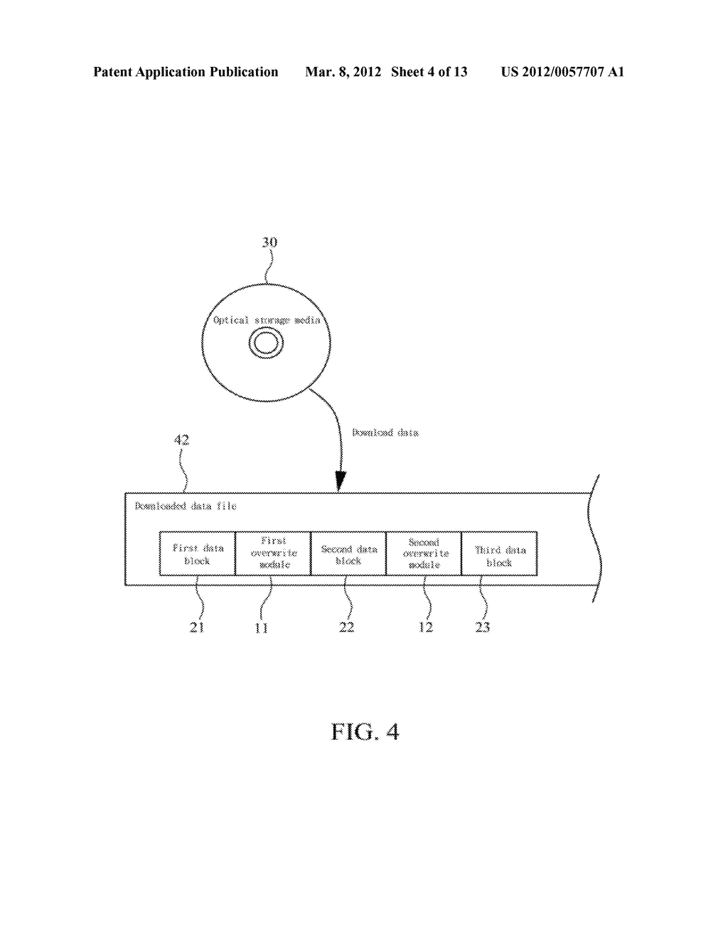METHOD OF ABOLISHING UNAUTHORIZED COPYING OF DIGITAL DATA STORED ON AN     OPTICAL DISC - diagram, schematic, and image 05