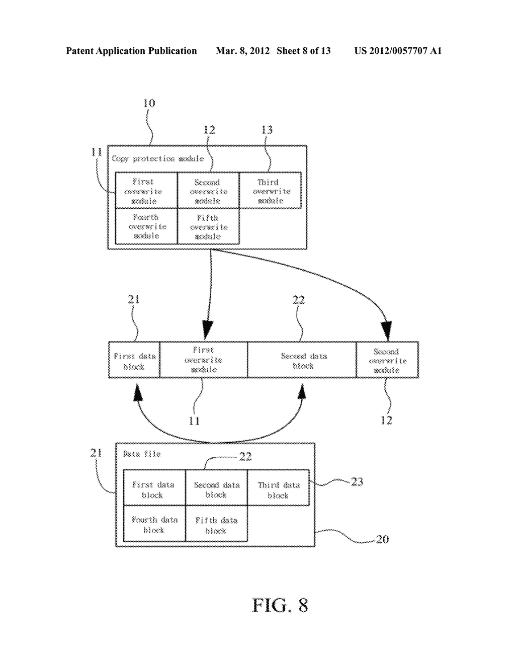 METHOD OF ABOLISHING UNAUTHORIZED COPYING OF DIGITAL DATA STORED ON AN     OPTICAL DISC - diagram, schematic, and image 09