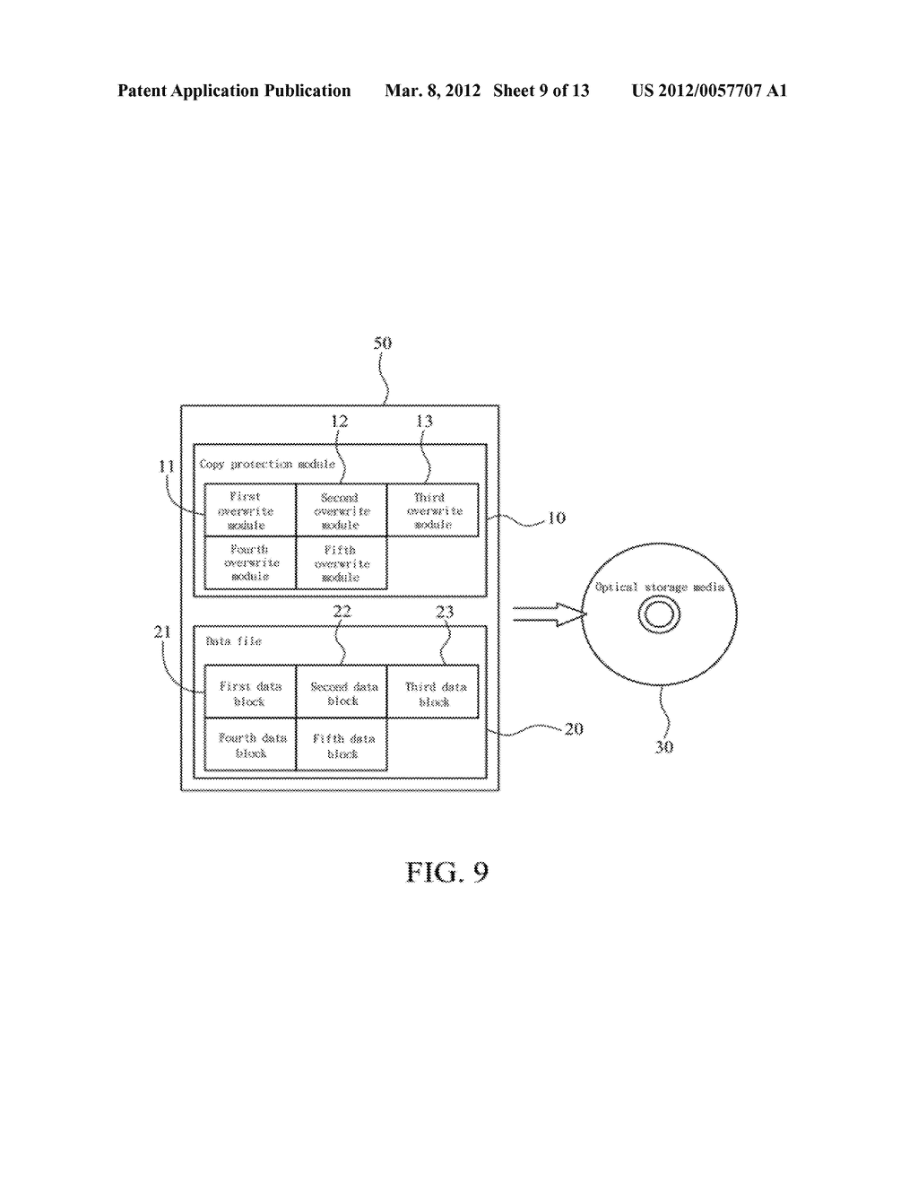 METHOD OF ABOLISHING UNAUTHORIZED COPYING OF DIGITAL DATA STORED ON AN     OPTICAL DISC - diagram, schematic, and image 10