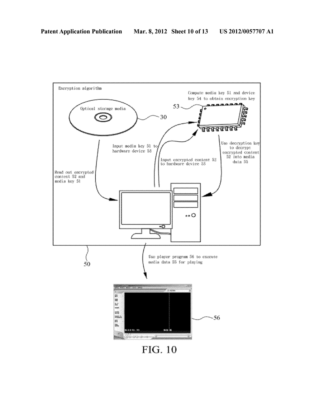 METHOD OF ABOLISHING UNAUTHORIZED COPYING OF DIGITAL DATA STORED ON AN     OPTICAL DISC - diagram, schematic, and image 11