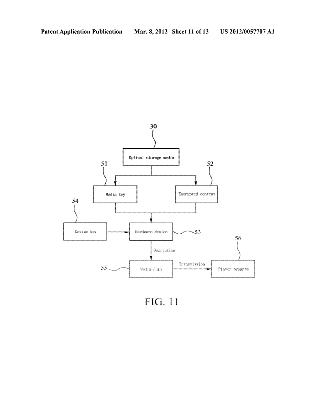 METHOD OF ABOLISHING UNAUTHORIZED COPYING OF DIGITAL DATA STORED ON AN     OPTICAL DISC - diagram, schematic, and image 12