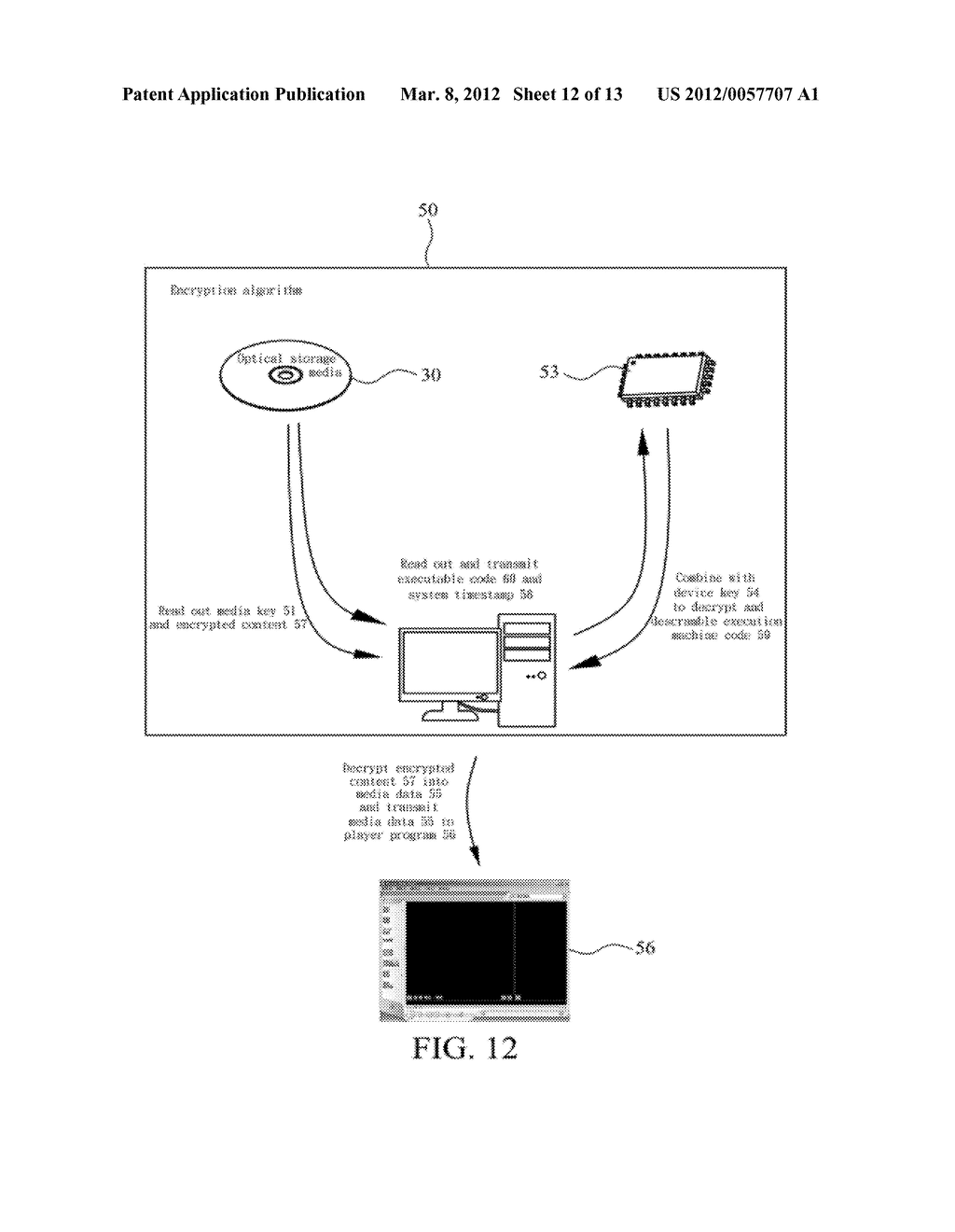 METHOD OF ABOLISHING UNAUTHORIZED COPYING OF DIGITAL DATA STORED ON AN     OPTICAL DISC - diagram, schematic, and image 13