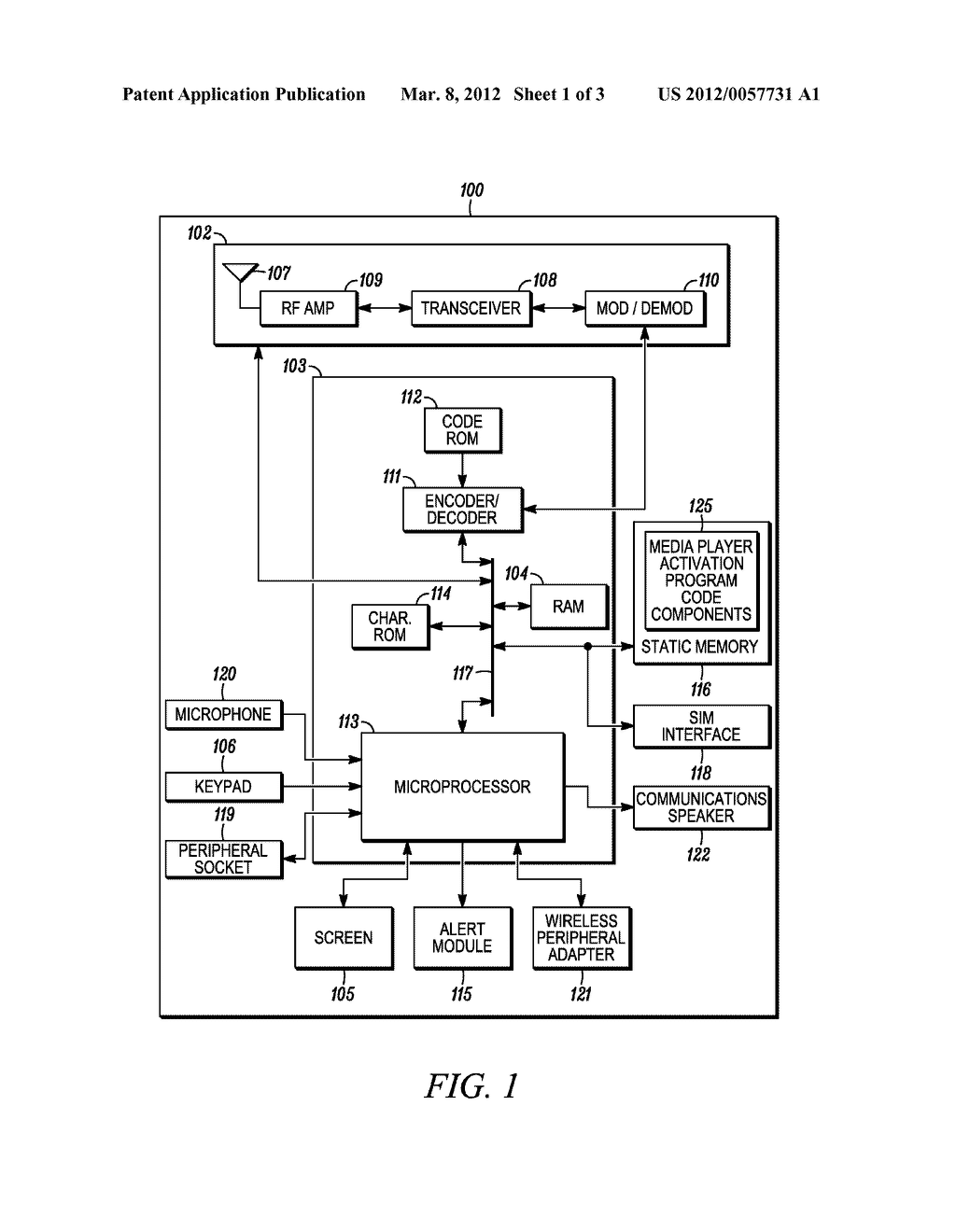 METHOD AND DEVICE FOR ACTIVATING A MEDIA PLAYER - diagram, schematic, and image 02
