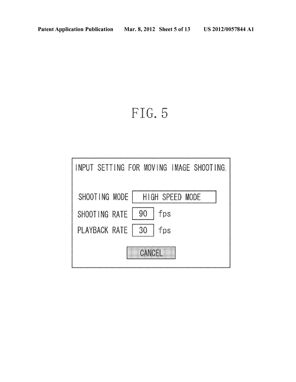 IMAGING APPARATUS AND CONTROL METHOD FOR THE SAME, SHOOTING CONTROL     APPARATUS, AND SHOOTING CONTROL METHOD - diagram, schematic, and image 06