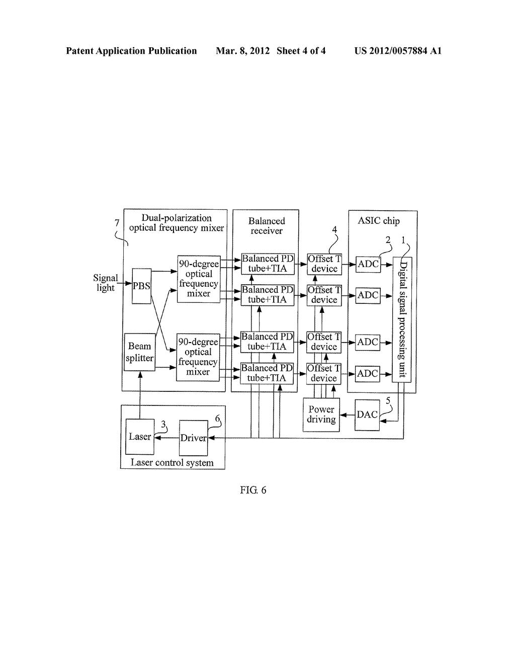 METHOD, APPARATUS, AND SYSTEM FOR FEEDBACK CONTROL OF COHERENT RECEIVER - diagram, schematic, and image 05