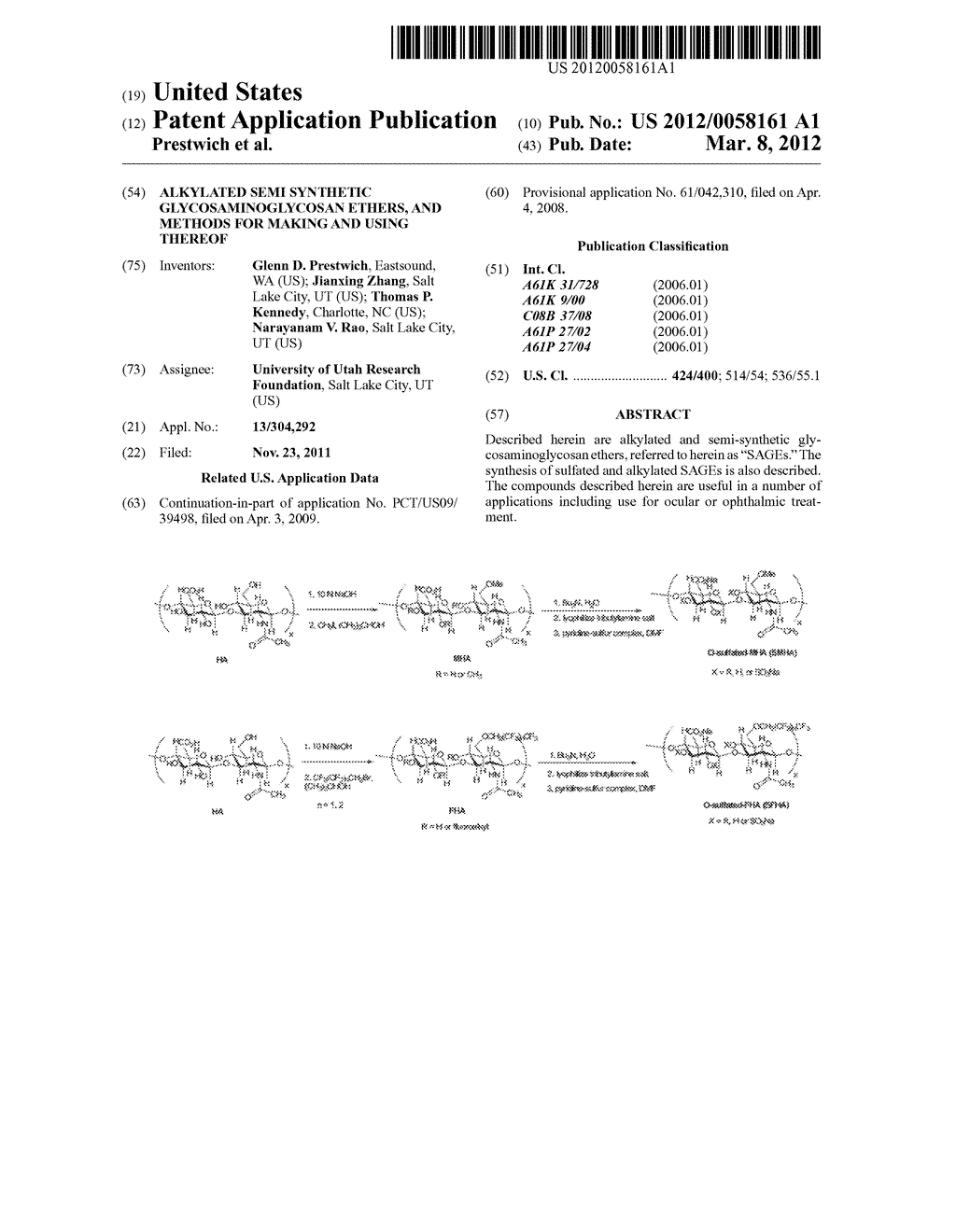 ALKYLATED SEMI SYNTHETIC GLYCOSAMINOGLYCOSAN ETHERS, AND METHODS FOR     MAKING AND USING THEREOF - diagram, schematic, and image 01