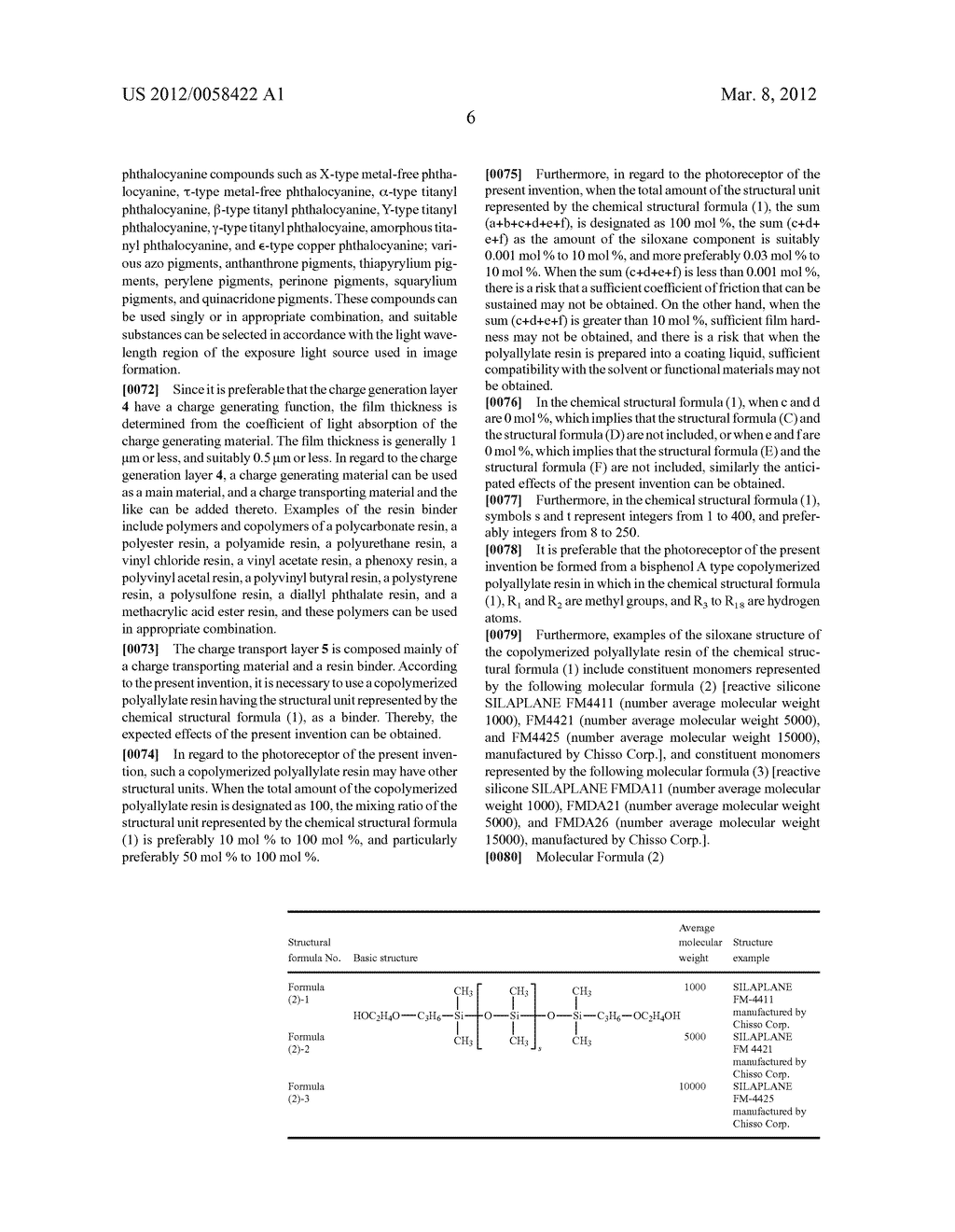 PHOTORECEPTOR FOR ELECTROPHOTOGRAPHY, PROCESS FOR PRODUCING THE SAME, AND     ELECTROPHOTOGRAPHIC APPARATUS - diagram, schematic, and image 11