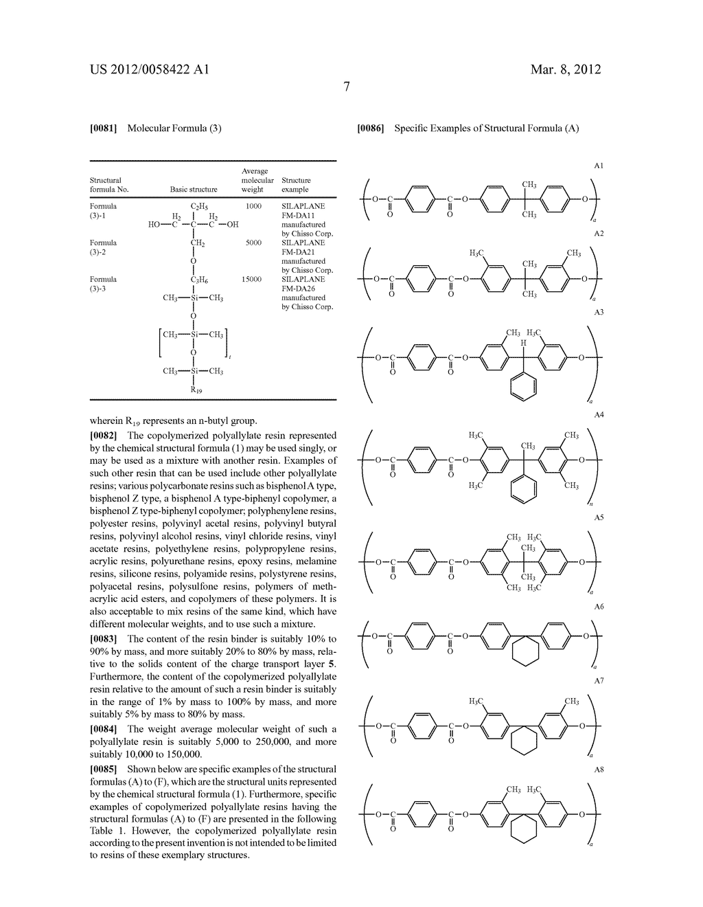 PHOTORECEPTOR FOR ELECTROPHOTOGRAPHY, PROCESS FOR PRODUCING THE SAME, AND     ELECTROPHOTOGRAPHIC APPARATUS - diagram, schematic, and image 12
