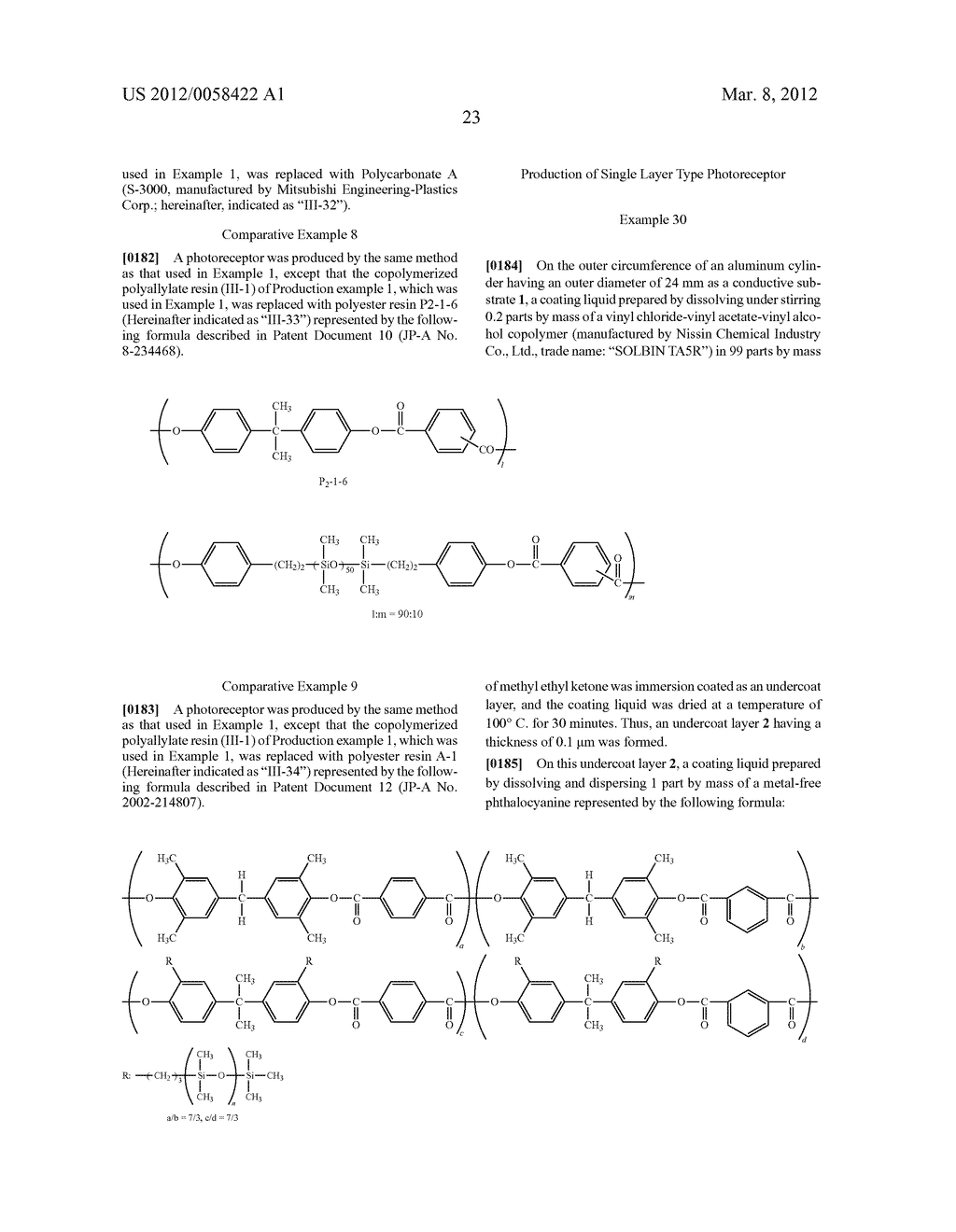 PHOTORECEPTOR FOR ELECTROPHOTOGRAPHY, PROCESS FOR PRODUCING THE SAME, AND     ELECTROPHOTOGRAPHIC APPARATUS - diagram, schematic, and image 28