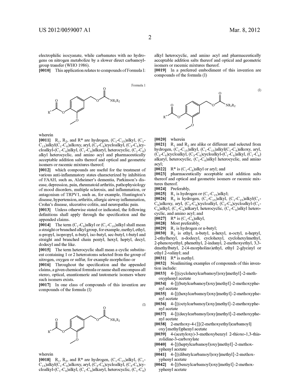 Pharmacologically-active vanilloid carbamates - diagram, schematic, and image 03