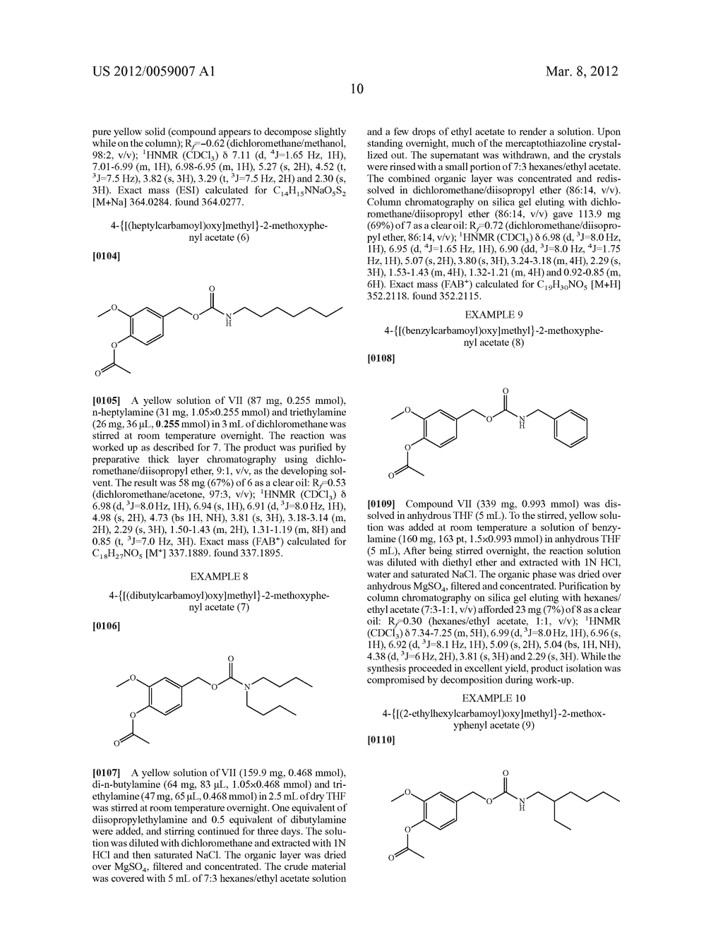 Pharmacologically-active vanilloid carbamates - diagram, schematic, and image 11