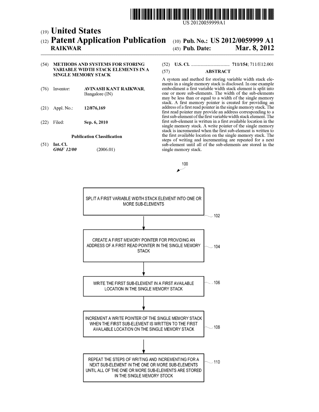 METHODS AND SYSTEMS FOR STORING VARIABLE WIDTH STACK ELEMENTS IN A SINGLE     MEMORY STACK - diagram, schematic, and image 01