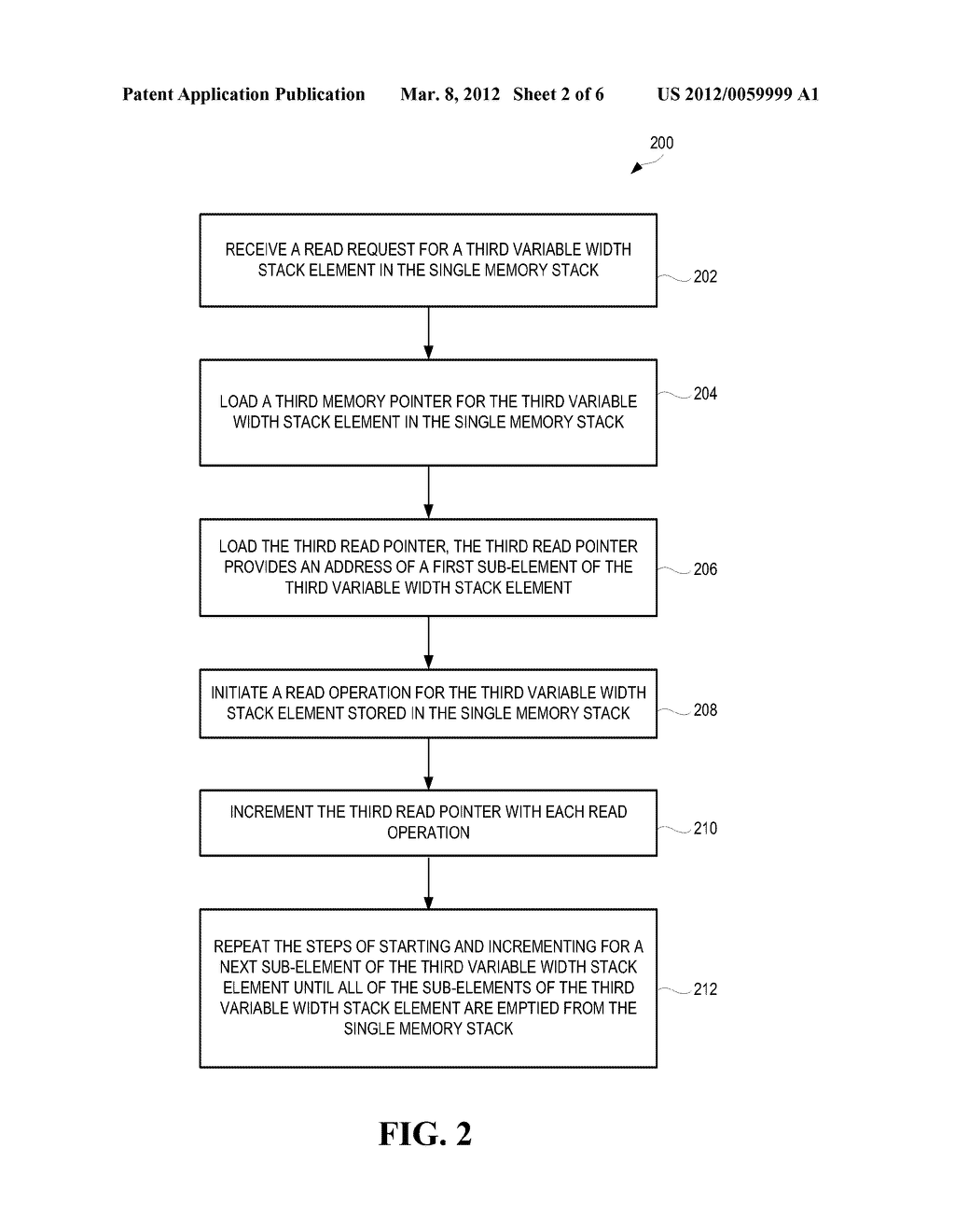 METHODS AND SYSTEMS FOR STORING VARIABLE WIDTH STACK ELEMENTS IN A SINGLE     MEMORY STACK - diagram, schematic, and image 03