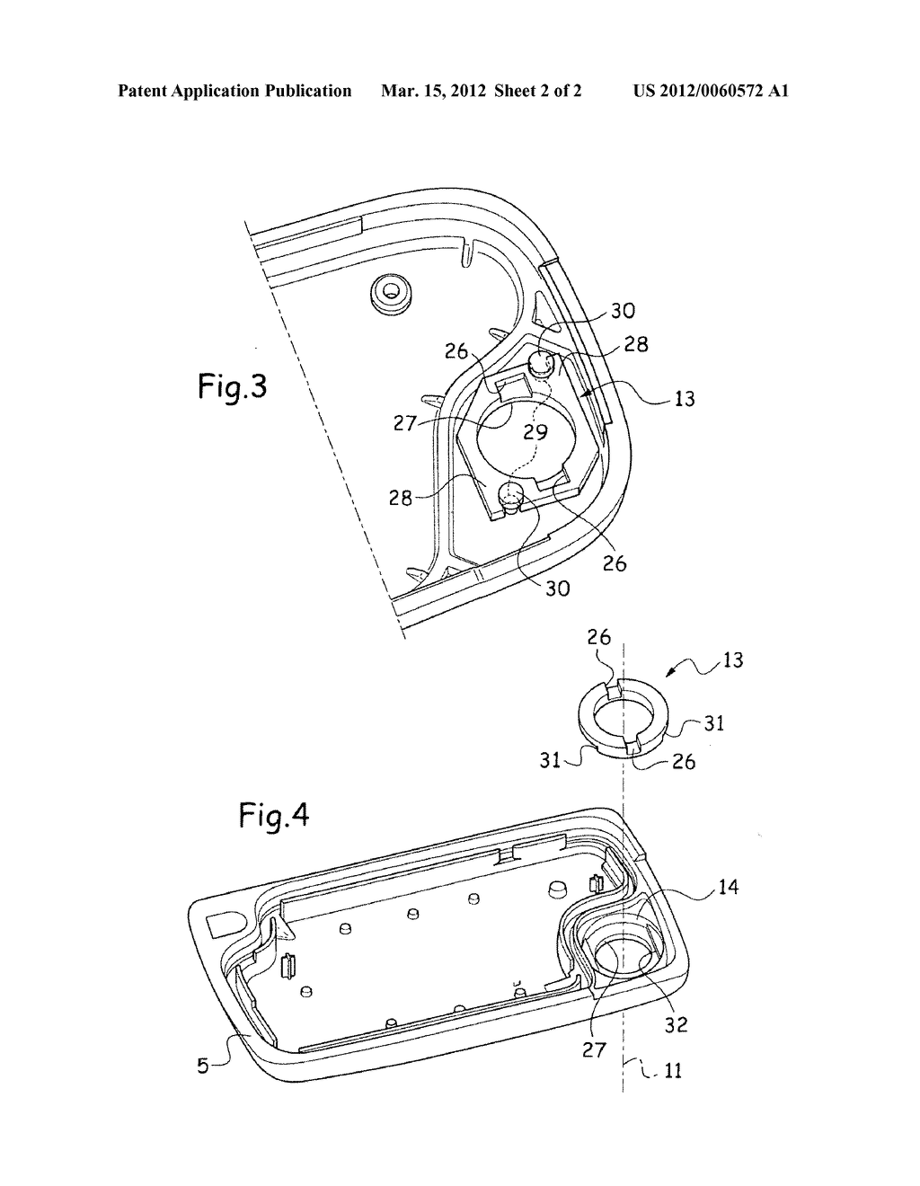 PIVOTABLE KEY WITH REINFORCED POSITION LATCHING FOR ACTUATING A LOCK - diagram, schematic, and image 03