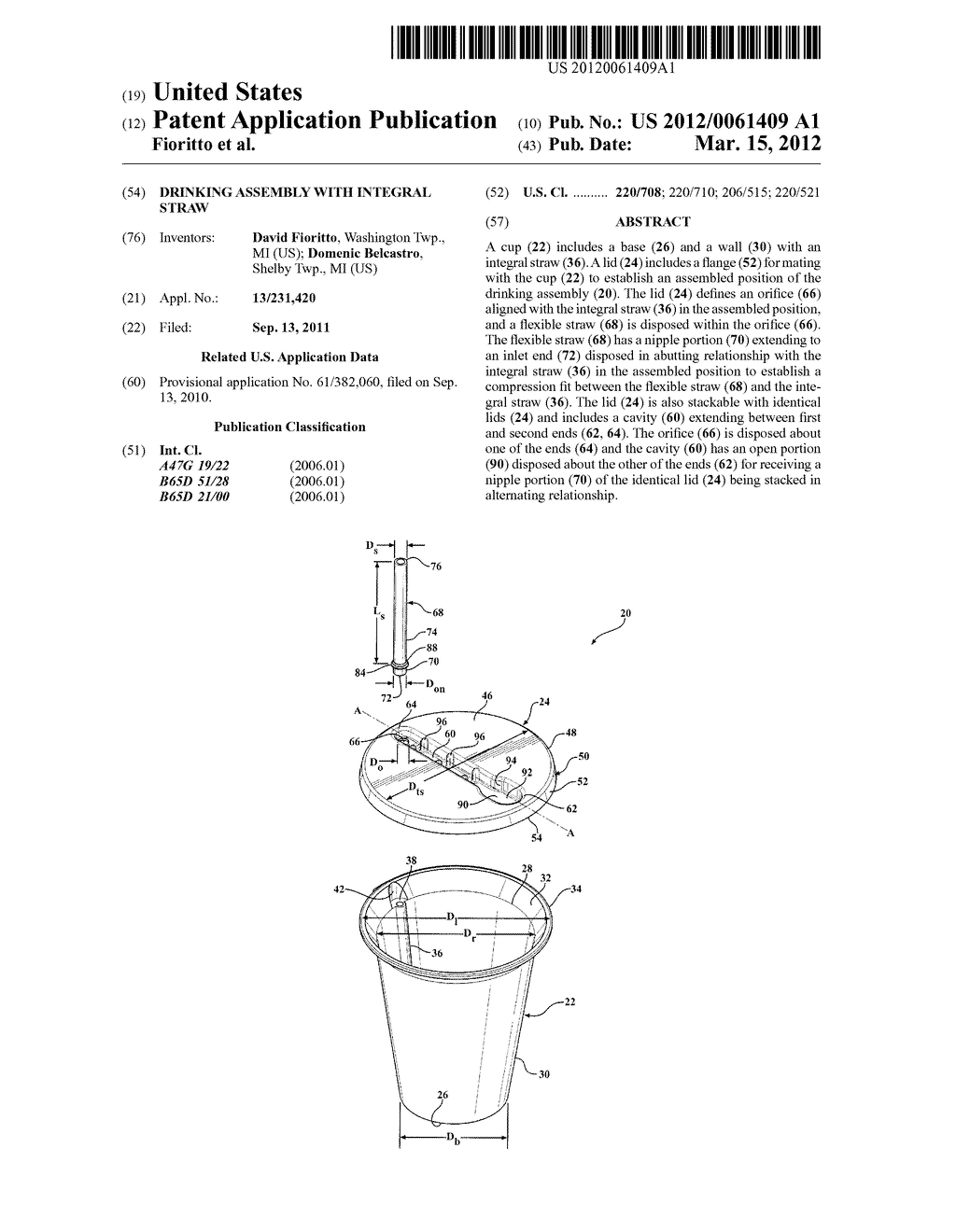 DRINKING ASSEMBLY WITH INTEGRAL STRAW - diagram, schematic, and image 01