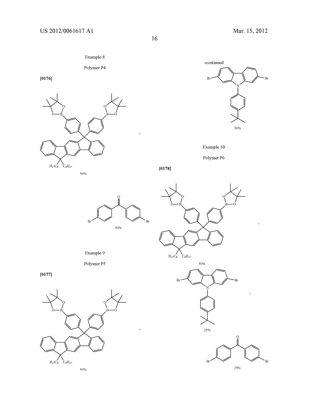 POLYMERS WHICH CONTAIN SUBSTITUTED INDENOFLUORENE DERIVATIVES AS     STRUCTURAL UNIT, PROCESS FOR THE PREPARATION THEREOF, AND THE USE THEREOF - diagram, schematic, and image 19