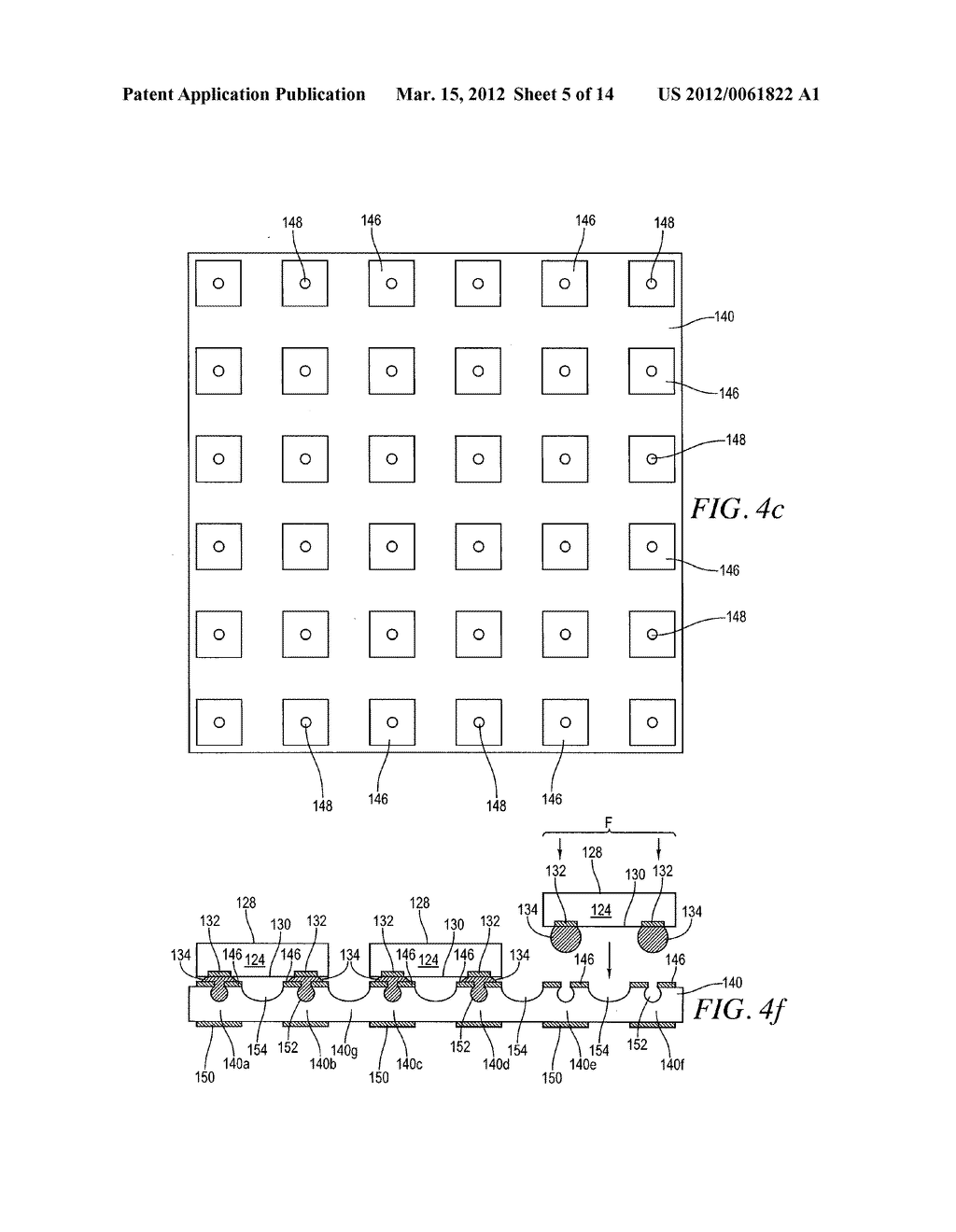 Semiconductor Device and Method of Forming Base Substrate With Cavities     Formed Through Etch-Resistant Conductive Layer for Bump Locking - diagram, schematic, and image 06