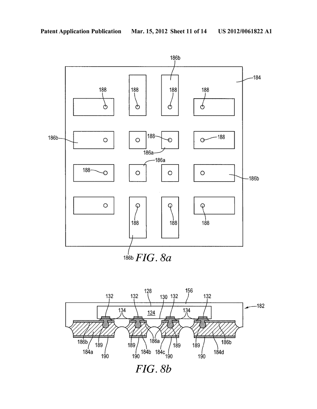 Semiconductor Device and Method of Forming Base Substrate With Cavities     Formed Through Etch-Resistant Conductive Layer for Bump Locking - diagram, schematic, and image 12