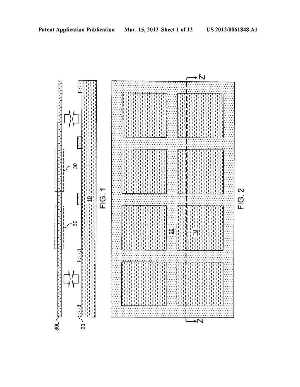 CHIP ASSEMBLY WITH A CORELESS SUBSTRATE EMPLOYING A PATTERNED ADHESIVE     LAYER - diagram, schematic, and image 02