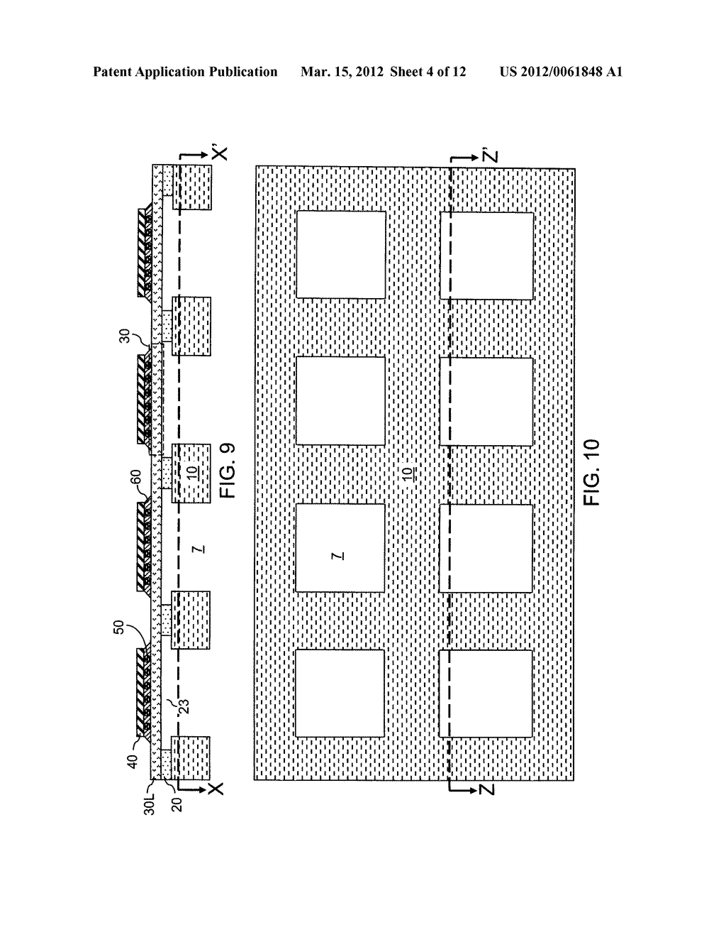 CHIP ASSEMBLY WITH A CORELESS SUBSTRATE EMPLOYING A PATTERNED ADHESIVE     LAYER - diagram, schematic, and image 05