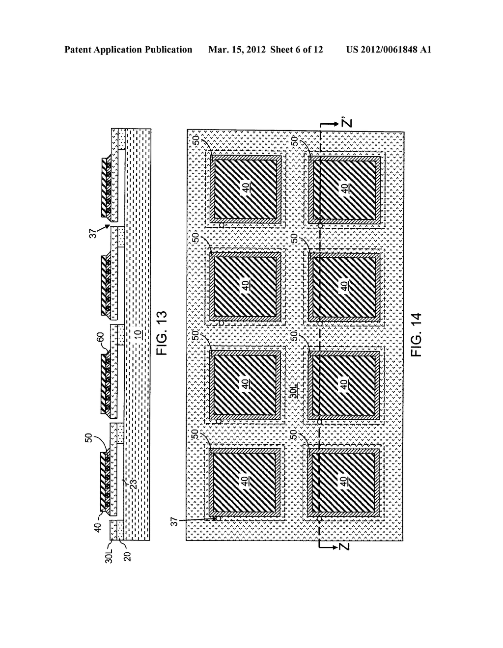 CHIP ASSEMBLY WITH A CORELESS SUBSTRATE EMPLOYING A PATTERNED ADHESIVE     LAYER - diagram, schematic, and image 07