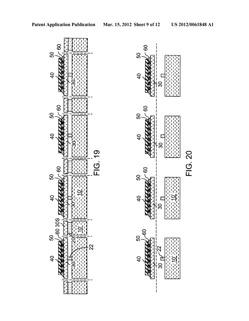 CHIP ASSEMBLY WITH A CORELESS SUBSTRATE EMPLOYING A PATTERNED ADHESIVE     LAYER - diagram, schematic, and image 10