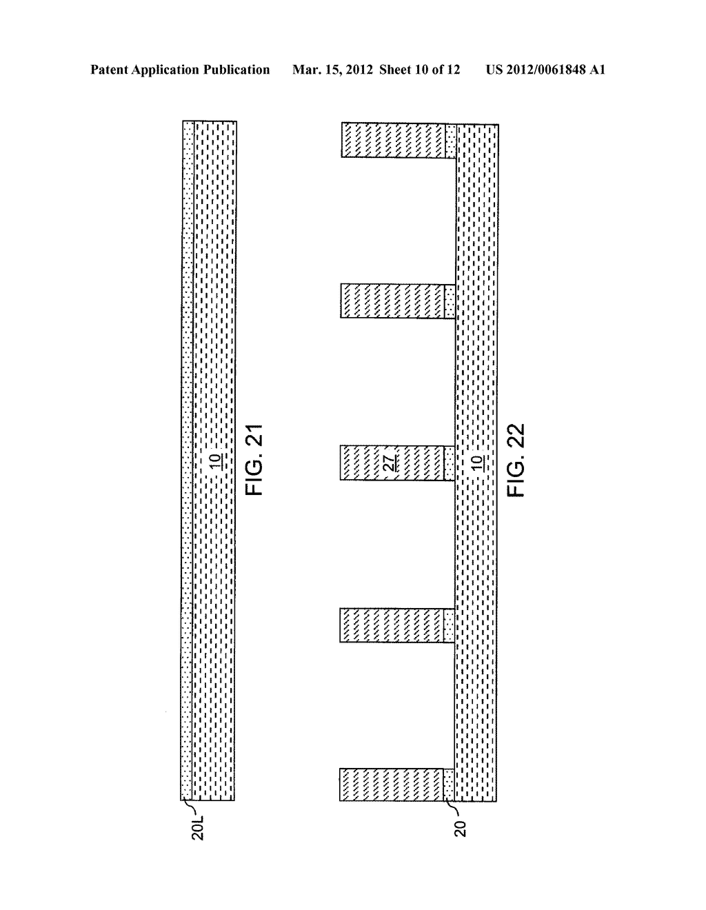CHIP ASSEMBLY WITH A CORELESS SUBSTRATE EMPLOYING A PATTERNED ADHESIVE     LAYER - diagram, schematic, and image 11