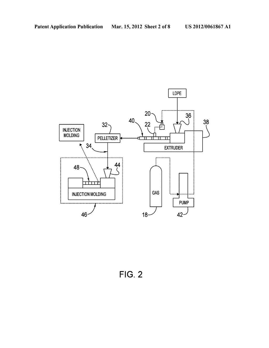 POLYMER PELLETS CONTAINING SUPERCRITICAL FLUID AND METHODS OF MAKING AND     USING - diagram, schematic, and image 03