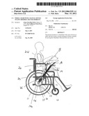 WHEEL CHAIR WITH A MANUAL DEVICE TO GIVE HIM/HER A BETTER MOBILITY diagram and image
