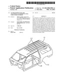 ALUMINUM ROOF PANEL FOR ATTACHMENT TO SUPPORTING STEEL VEHICLE BODY     MEMBERS diagram and image