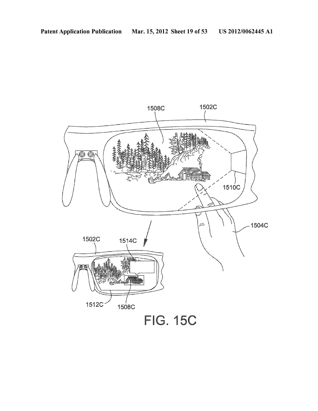ADJUSTABLE WRAP AROUND EXTENDABLE ARM FOR A HEAD-MOUNTED DISPLAY - diagram, schematic, and image 20