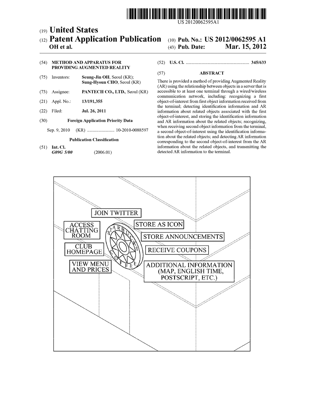 METHOD AND APPARATUS FOR PROVIDING AUGMENTED REALITY - diagram, schematic, and image 01