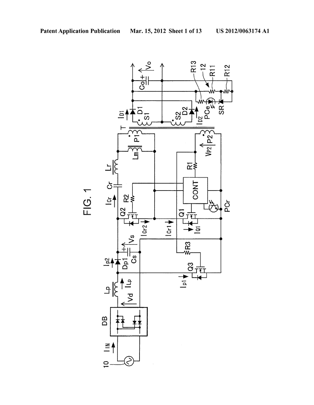 POWER FACTOR CORRECT CURRENT RESONANCE CONVERTER - diagram, schematic, and image 02