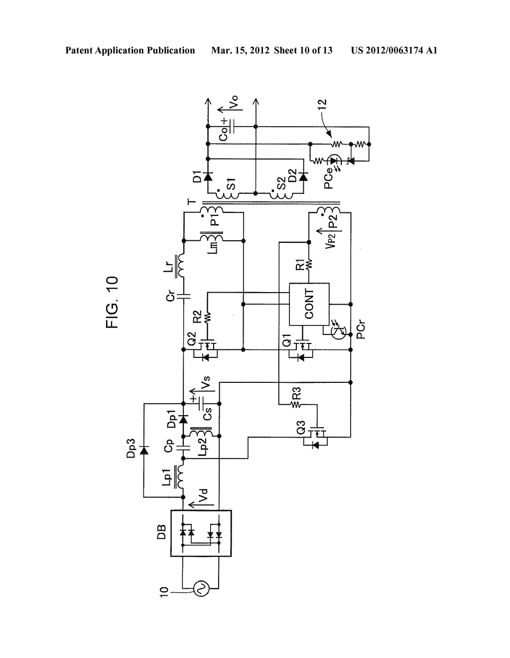 POWER FACTOR CORRECT CURRENT RESONANCE CONVERTER - diagram, schematic, and image 11