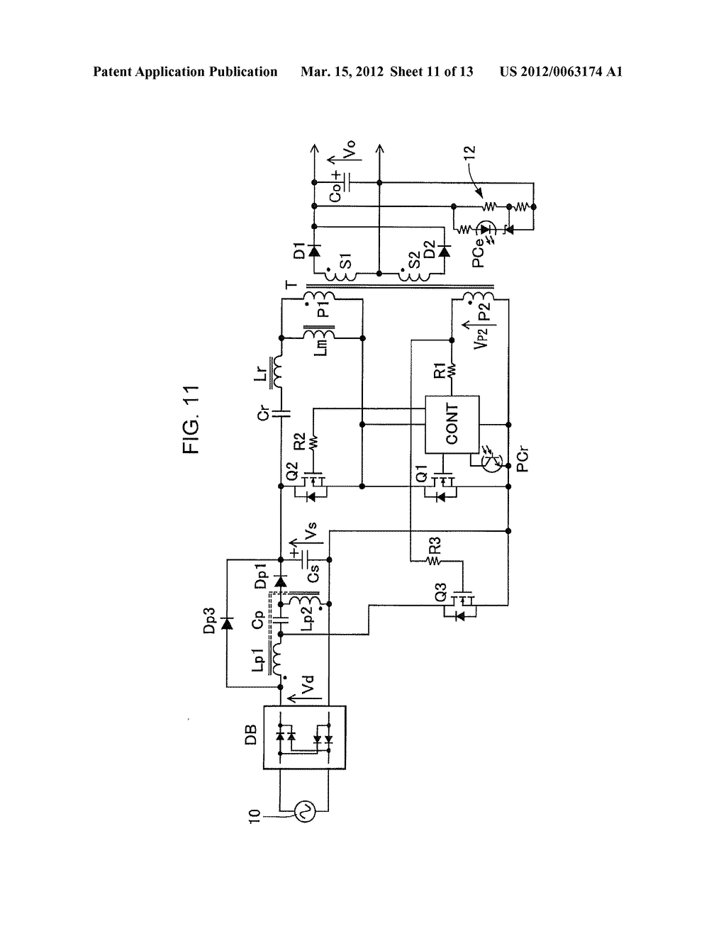 POWER FACTOR CORRECT CURRENT RESONANCE CONVERTER - diagram, schematic, and image 12