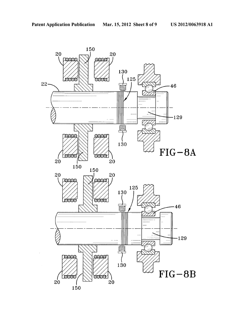 APPARATUS AND METHOD FOR DETERMINING CLEARANCE OF MECHANICAL BACK-UP     BEARINGS OF TURBOMACHINERY UTILIZING ELECTROMAGNETIC BEARINGS - diagram, schematic, and image 09