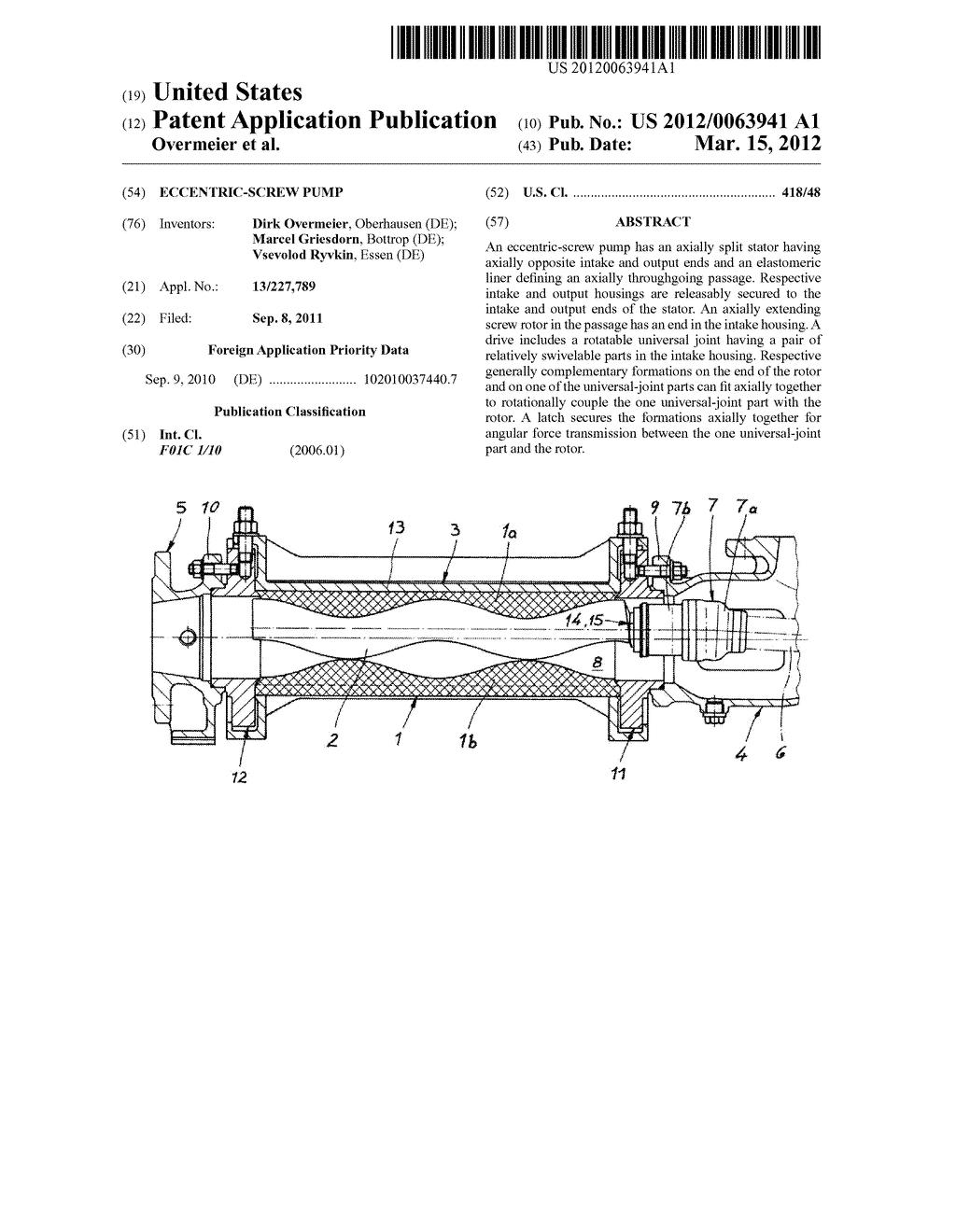 Eccentric screw pump diagram schematic and image 01 pooptronica