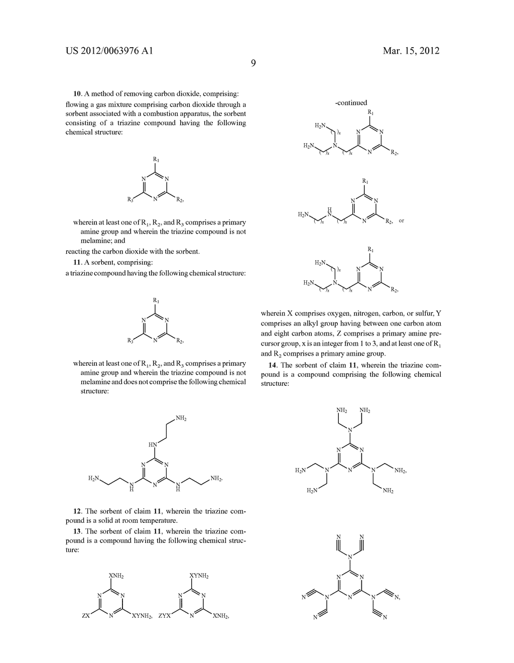 METHODS OF REMOVING CARBON DIOXIDE AND SORBENTS FOR SAME - diagram, schematic, and image 12