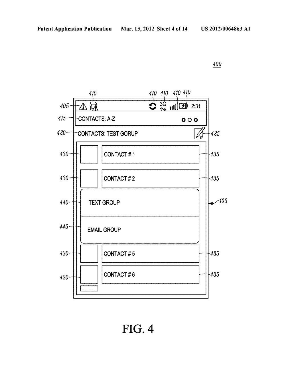 Method of an Electronic Device for Providing Contact or Group Information     for a Contact or Group of Contacts - diagram, schematic, and image 05