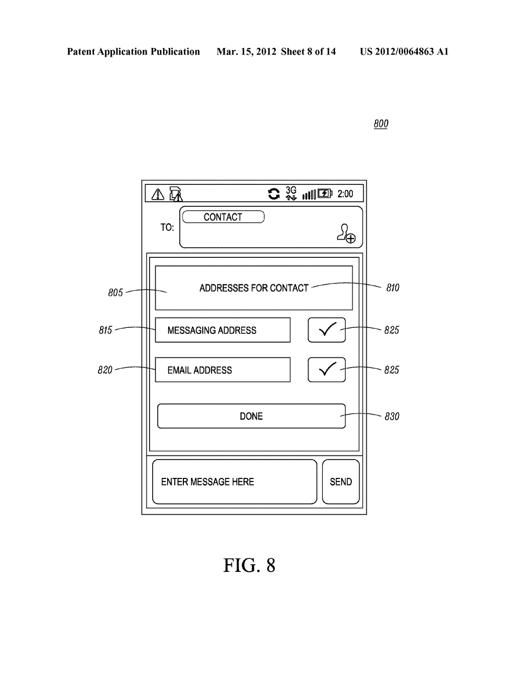 Method of an Electronic Device for Providing Contact or Group Information     for a Contact or Group of Contacts - diagram, schematic, and image 09