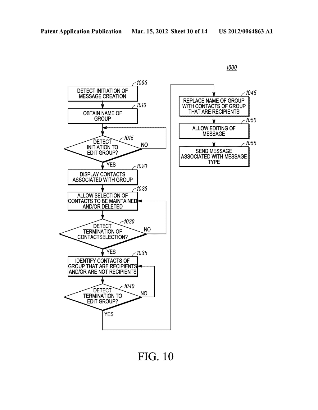 Method of an Electronic Device for Providing Contact or Group Information     for a Contact or Group of Contacts - diagram, schematic, and image 11