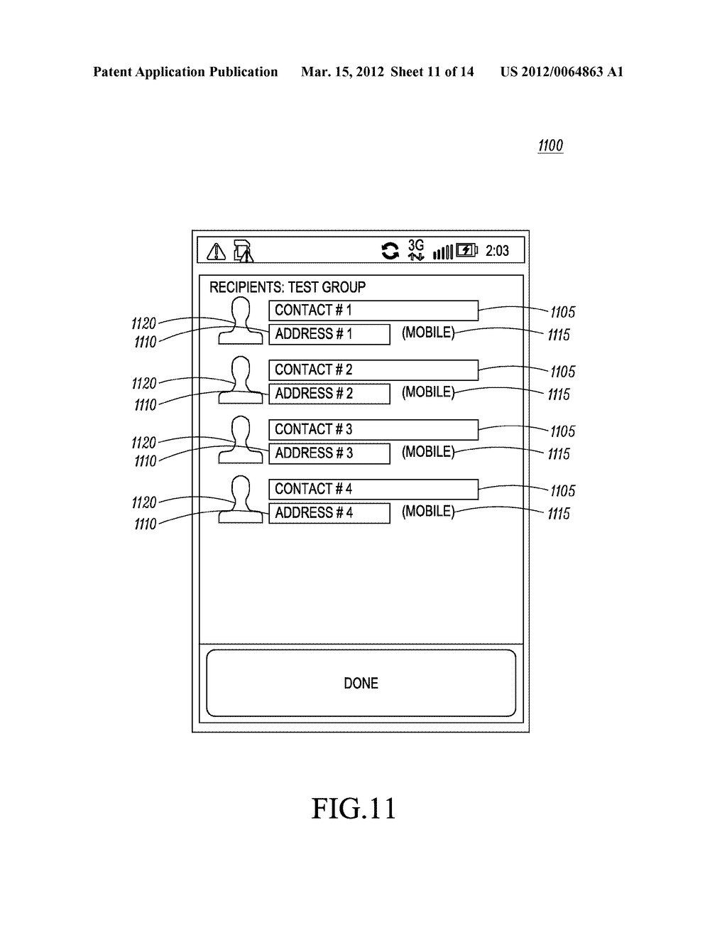 Method of an Electronic Device for Providing Contact or Group Information     for a Contact or Group of Contacts - diagram, schematic, and image 12