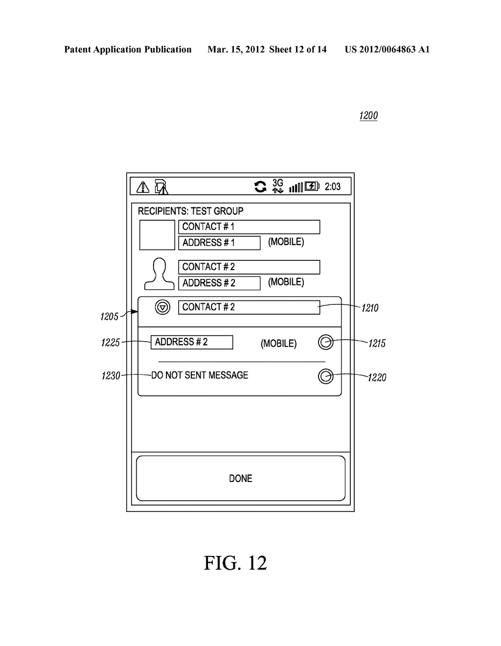 Method of an Electronic Device for Providing Contact or Group Information     for a Contact or Group of Contacts - diagram, schematic, and image 13