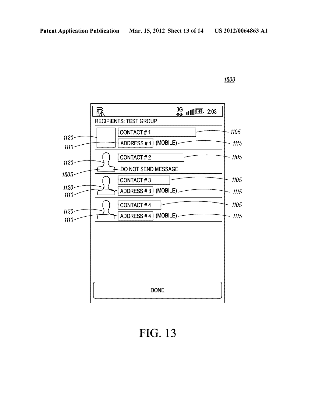 Method of an Electronic Device for Providing Contact or Group Information     for a Contact or Group of Contacts - diagram, schematic, and image 14