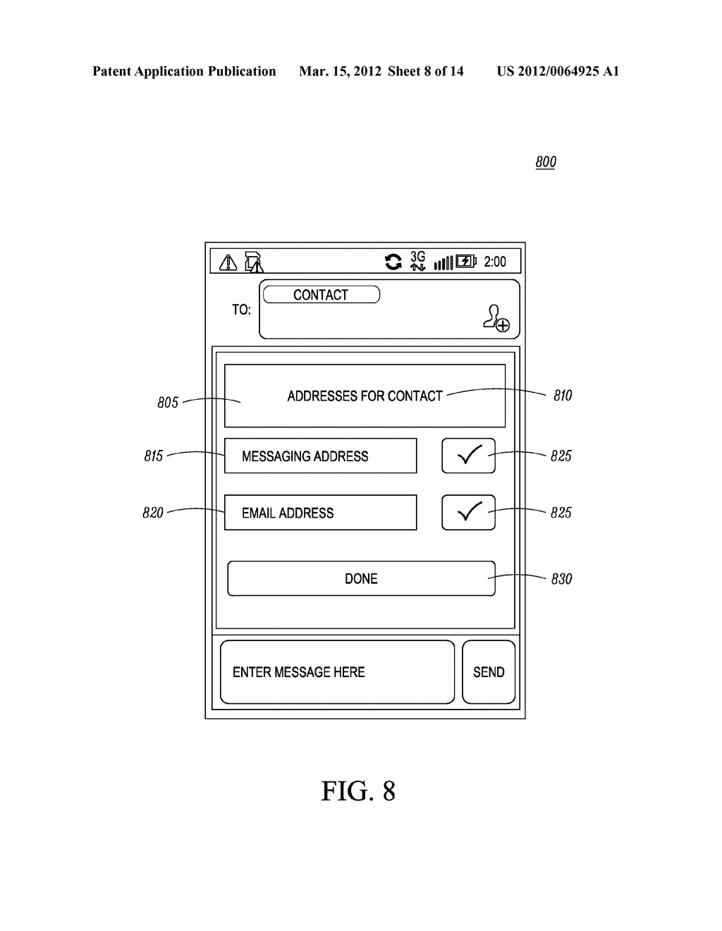 Method for an Electronic Device for Providing Group Information Associated     with a Group of Contacts - diagram, schematic, and image 09