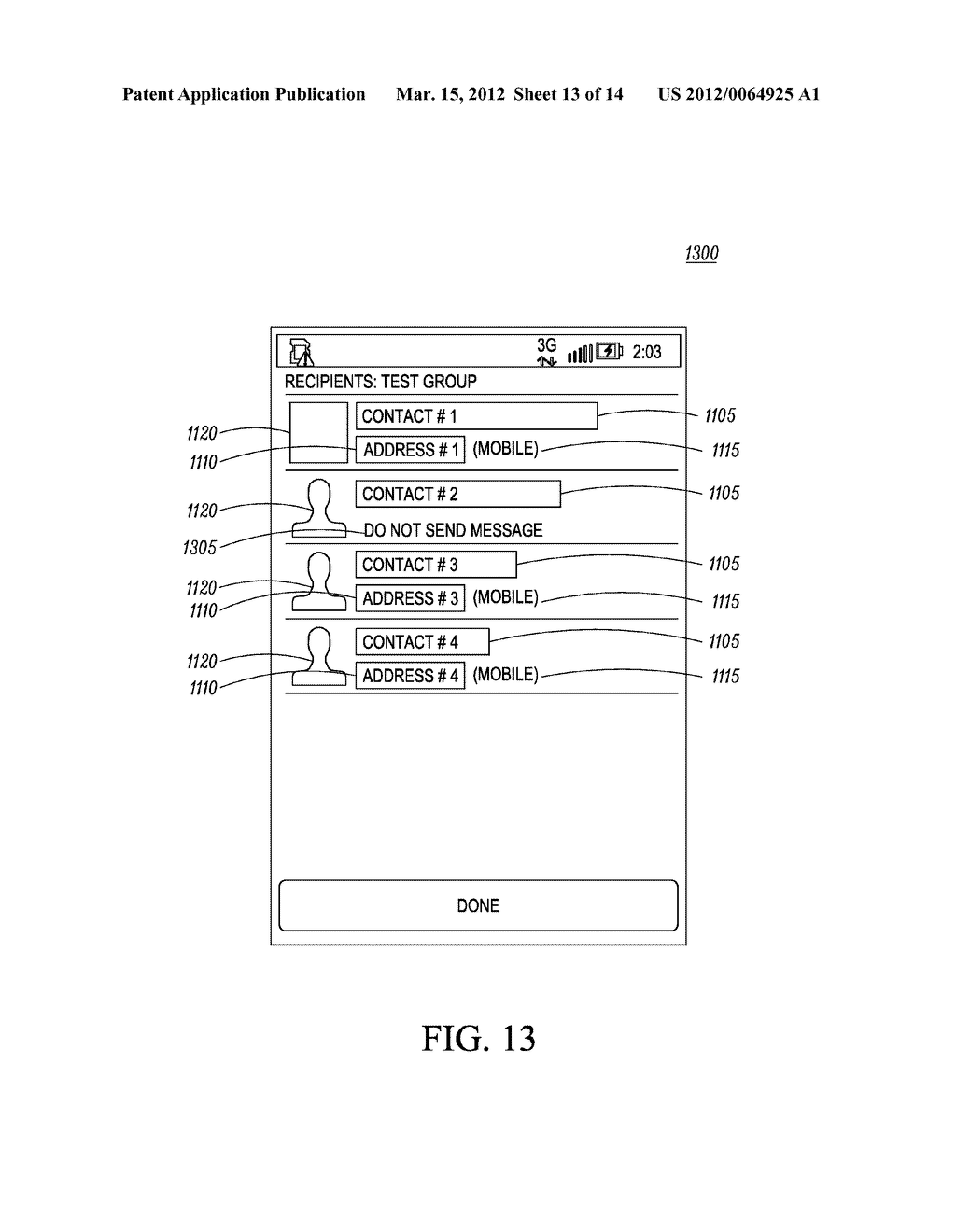 Method for an Electronic Device for Providing Group Information Associated     with a Group of Contacts - diagram, schematic, and image 14